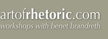 Art of Rhetoric: Workshops with Benet Brandreth